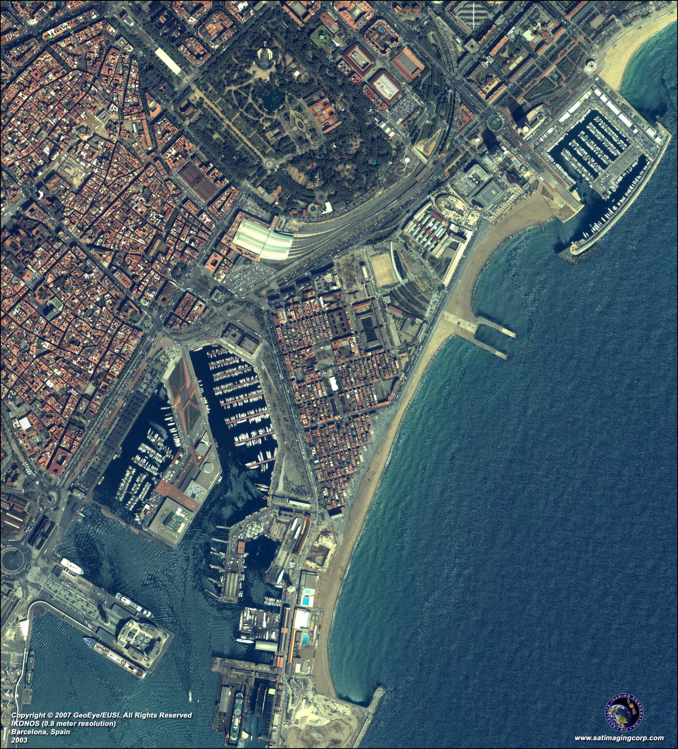 Barcelona Harta Prin Satelit Harta De Barcelona Prin Satelit