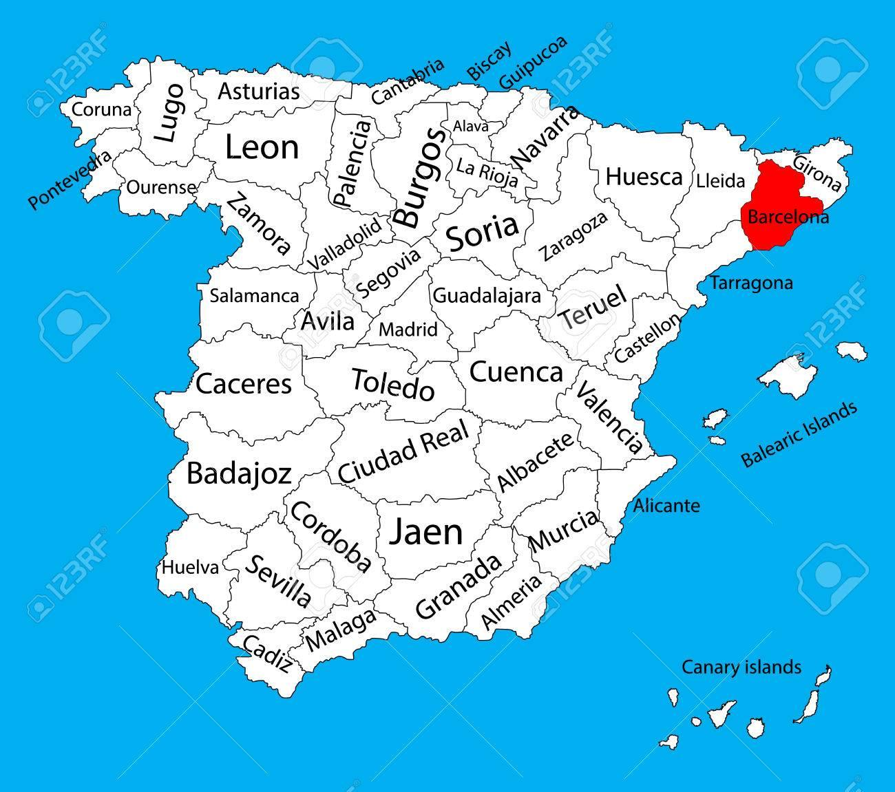 Harta Spaniei Barcelona Harta Spania Barcelona Catalonia Spania